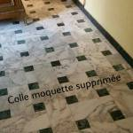 Suppression colle moquette Aix